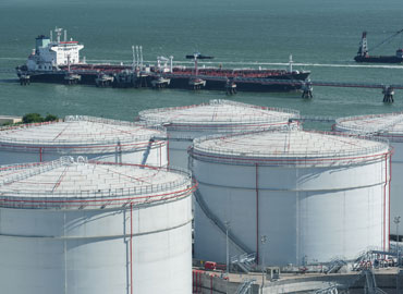 Storage tanks hold valuable maritime freight