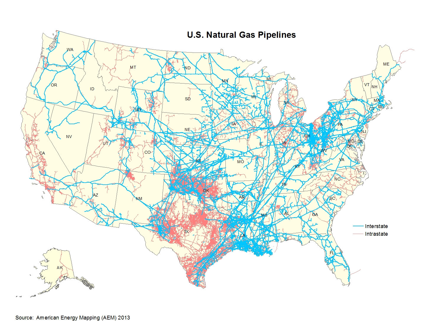 Natural Gas Consumption Map Us Globalinterco - Us pipeline 1950 map