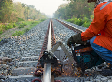 Railroads perform constant maintenance work on their tracks