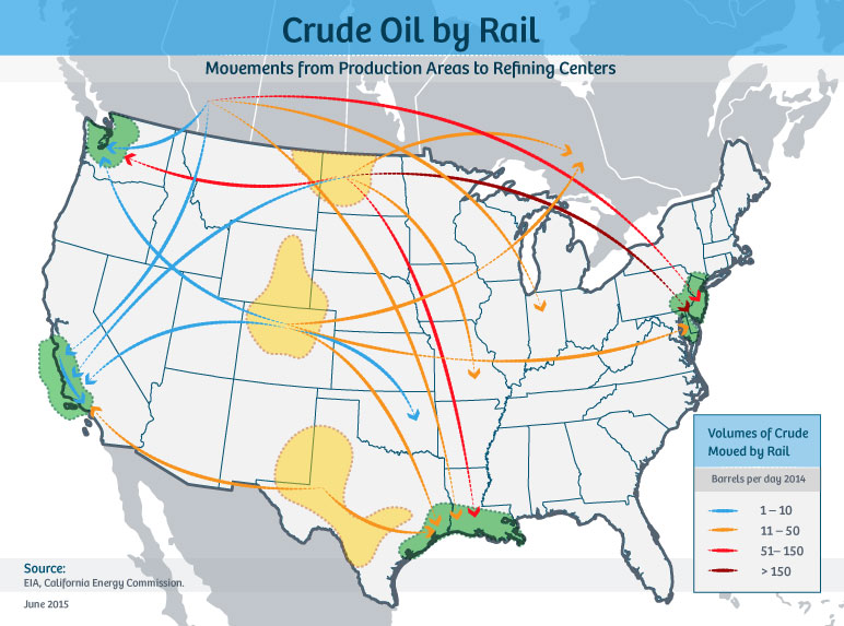 State Of Rail Energy Infrastructure API - Us railroad map 2015